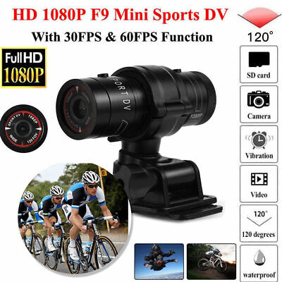 Motorcycle Motorbike Bike Helmet Action Camera FHD F9 1080P Action Camcorder