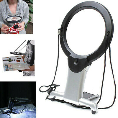 6X Magnifying Magnifier Glass Jeweler Eye Jewelry Loupe Loop Handsfree +LED Lamp