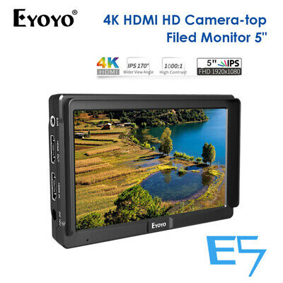 "Eyoyo E5 5"" 4K IPS 1920*1080 DSLR On Camera Top Field Monitor HDMI Professional"