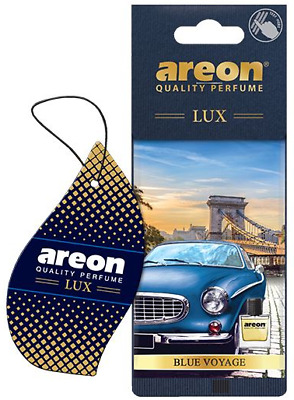 Areon Sport LUX Quality Perfume/Cologne Cardboard Car Air Freshener Blue Voyage