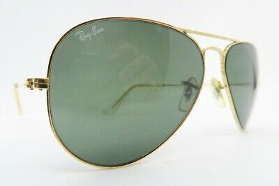 Vintage B&L Ray Ban sunglasses aviator size 58-14 etched lens made in the USA
