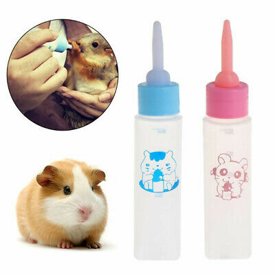 Pet Milk Bottle 30ml Silicone Nipple Small Animal Feeding Hamster Cat Dogs KY