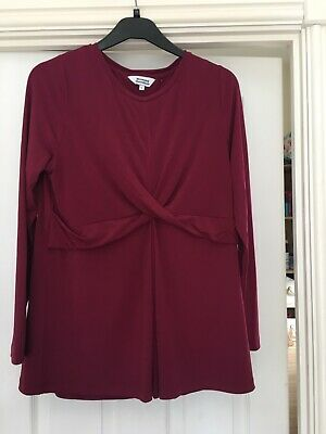 Mothercare Blooming Marvellous Berry coloured Maternity Top Size Large