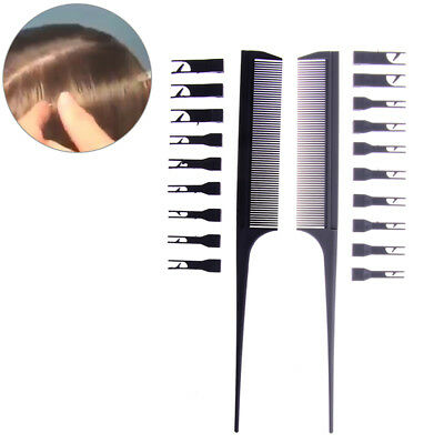 2Side Hair Dyeing Adjustable Sectioning Highlight Comb Weaving Cutting Brush HGU