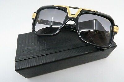 Cazal sunglasses with case, pouch and papers Germany Mod. 664/3 gold plated NEW