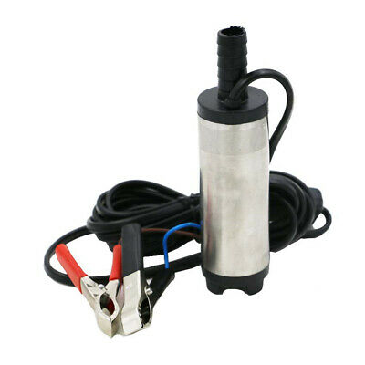 12v DC Electric Submersible Pump Water Oil Diesel Fuel Car 38mm  Silver