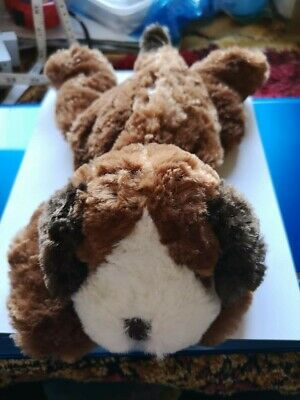 """Lavender & wheat warmer, a cuddly dog, 11"""" long, check pictures for details....."""