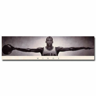 12581 Michael Jordan Wings with Basketball Poster US