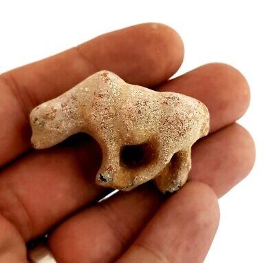 Hunting Amulet Ancient Egyptian Civilization Antique Striped Hyena Figurine RARE