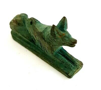 Anubis Afterlife God Ancient Egyptian Antiques Amulet Very Beautiful Faience