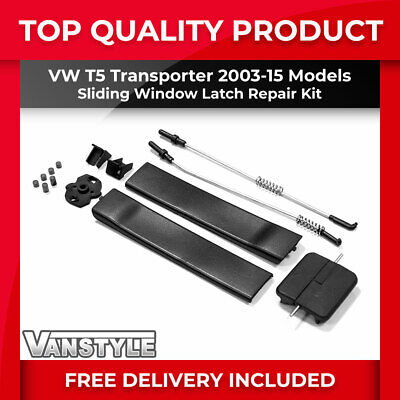 Vw T5 Transporter 03-15 Front Sliding Window Glass Pinch Latch Catch Repair Kit