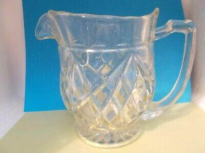 Large, heavy vintage water jug clear glass