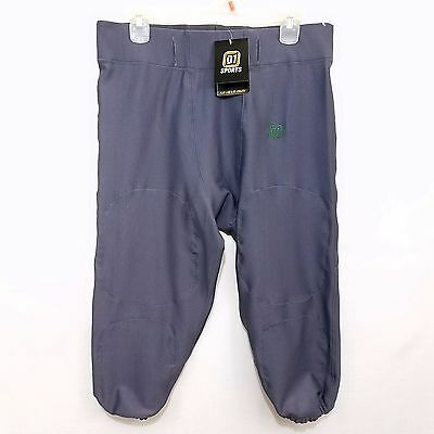 D1 Sports Mens Football Rush Pants Slotted Waist Gray White Green Size Large