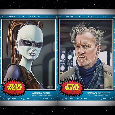 Topps Star Wars Living Set 2-card Bundle #31-#32 Aurra Sing & Tobias Beckett.