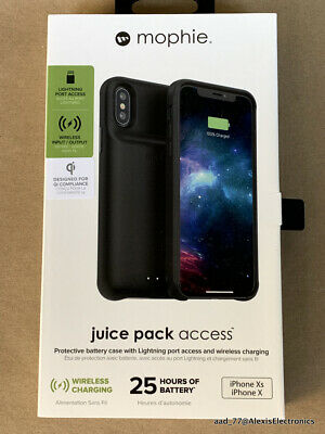 NEW MOPHIE JUICE PACK ACCESS BATTERY CASE FOR iPHONE XS and X COLOR: BLACK Qi