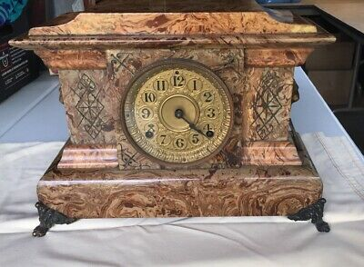 Seth Thomas Antique Adamantine Mantel / Shelf Clock For Restoration
