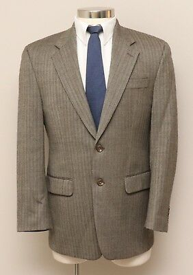 Mens 38R Ralph Lauren Brown Herringbone 100% Wool Blazer