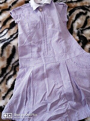Lovely Girls M&S Lilac School Dress Age 8 yrs
