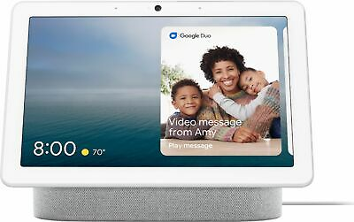 Google - Nest Hub Max with Google Assistant - Chalk