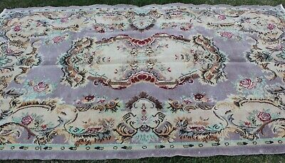 Antique Turkish Wool Woven Rug Handmade Handknotted Overdyed Area Carpet 6x9 ft