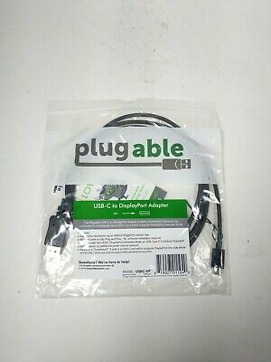Plugable 4K Monitor Adapter Cable - USB-C to DisplayPort, 6ft (1.8m)