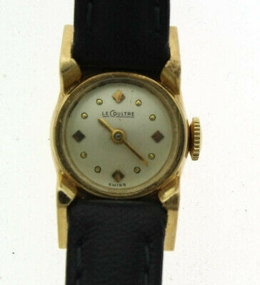 14K Vintage Le Coultre Ladies Watch Running, Great Condition!