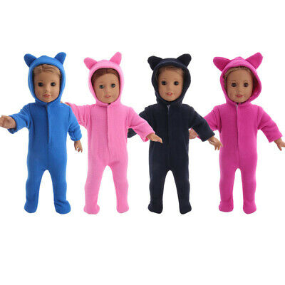"""Handmade Accessories18"""" Inch American Girl Doll Clothes Plush hooded pajamas"""