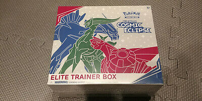 Pokemon TCG Cosmic Eclipse Elite Trainer Box 8 Booster Packs Sun & Moon SM12