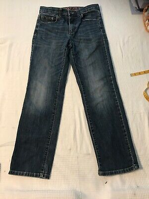 Boys Urban Pipeline Blue Jeans - Adjustable Waistband - Straight Leg - Size 14