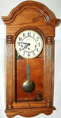 "Vintage Howard Millar Large ""Daniel"" Model 8 Day Westminster Chime Wall Clock."