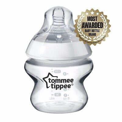 Tommee Tippee Closer to Nature 5-oz Baby Bottle BPA Free Two Pack