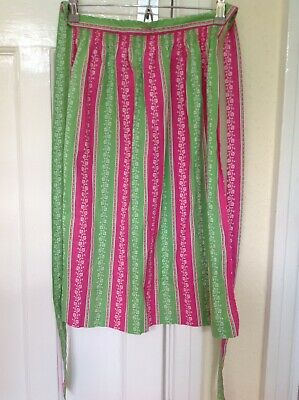Oberstoff Strawberry & Lime Green Floral Apron With Ties