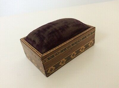 Antique Tunbridge Ware Pin Cushion dated 1892