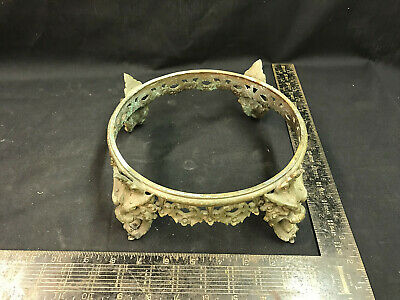 Antique Victorian Lamp Part Or Mirror Stand Mounting Cast Brass Best Quality