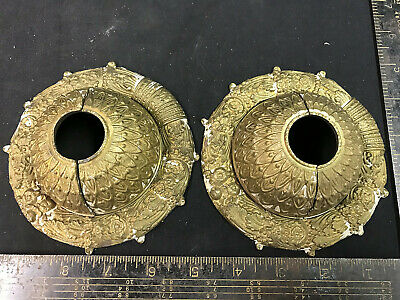 Pair Cauldwell Quality Cast Brass Wall Canopies Antique Circa 1920
