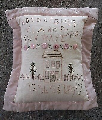 Country Style 'Shabby Chic' Handmade & Embroidered Cushion Brand New