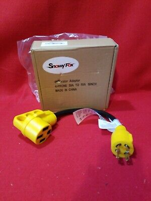 Snowy Fox 30 Amp to 50 Amp RV Adapter - 30Male/50Female RV Electrical Power with