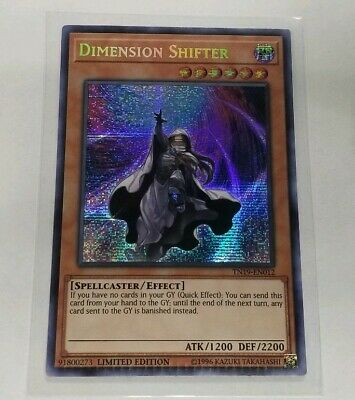 1 MISPRINT ERROR Dimension Shifter Prismatic Secret Rare TN19-EN012 Yugioh