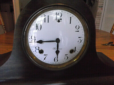 Antique clock Sessions mantel key wind nice condition runs well