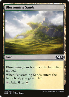 x4 Blossoming Sands M20 MTG 243/280 M20 M/NM 4x