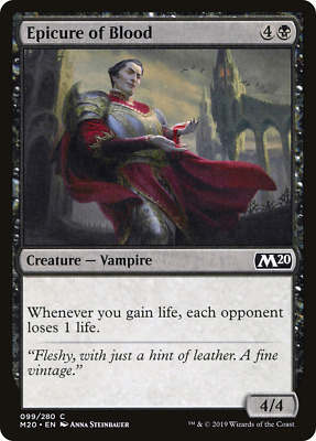 x4 Epicure of Blood M20 MTG 99/280 M20 M/NM 4x