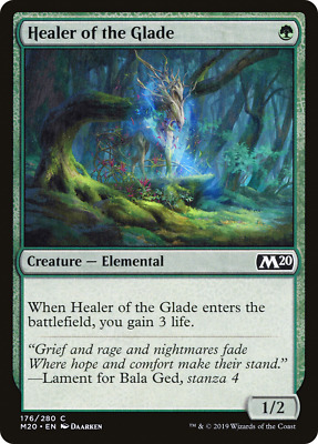 x4 Healer of the Glade M20 MTG 176/280 M20 M/NM 4x