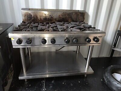 Waldorf 8 Burner RN8800 Gas Cooktop Kitchen Stove Works Perfect Stainless Steel