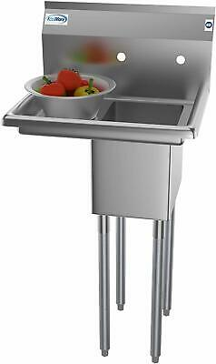 Stainless Steel Restaurant Sink Small Spaces Basin Washbasin Bowl Utility Rinse