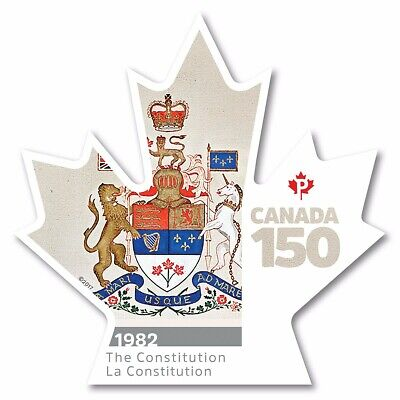 CONSTITUTION = CANADA 150 Celebration = Booklet DIE CUT stamp MNH Canada 2017