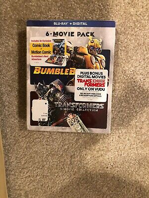 Bumblebee And Transformers Ultimate 6 Movie Pack(Bluray+Digital)Brand New