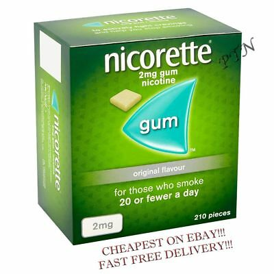 Nicorette Gum Original 2mg of 210 pieces Multiple Packing 1 2 3 4 5 8  (11/2021)