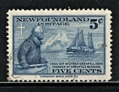 Hick Girl Stamp-  Used Newfoundland Stamp  Sc#252   1941  Grenfell   S37
