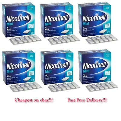 Nicotinell Gum Mint 2mg of 204 Pieces Pack of 6 Exp= 04/2020