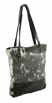 Gunnison Grand Hair-On Hide and Genuine Leather Trim Shoulder Tote Bag